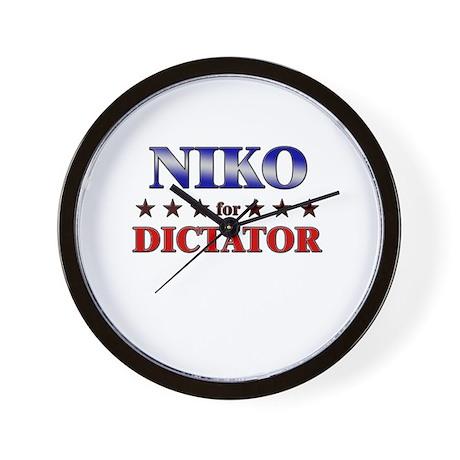 NIKO for dictator Wall Clock