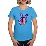 Patriotic Peace Sign Women's Dark T-Shirt