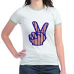Patriotic Peace Sign Jr. Ringer T-Shirt