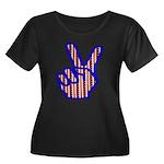 Patriotic Peace Sign Women's Plus Size Scoop Neck