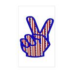 Patriotic Peace Sign Rectangle Sticker