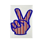 Patriotic Peace Sign Rectangle Magnet (10 pack)