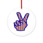 Patriotic Peace Sign Ornament (Round)