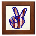 Patriotic Peace Sign Framed Tile