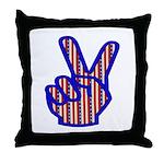 Patriotic Peace Sign Throw Pillow
