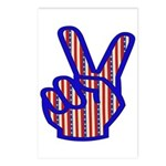 Patriotic Peace Sign Postcards (Package of 8)