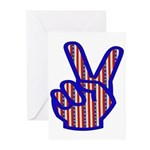 Patriotic Peace Sign Greeting Cards (Pk of 10)