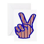Patriotic Peace Sign Greeting Card