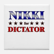 NIKKI for dictator Tile Coaster