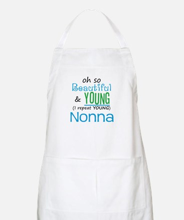 Beautiful and Young Nonna BBQ Apron