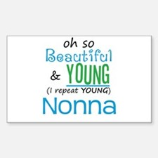 Beautiful and Young Nonna Rectangle Decal
