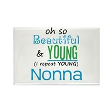 Beautiful and Young Nonna Rectangle Magnet (100 pa