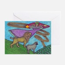 The Lion and The Lamb Greeting Cards (Pk of 20)
