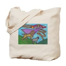 The Lion and The Lamb Tote Bag