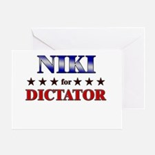 NIKI for dictator Greeting Card