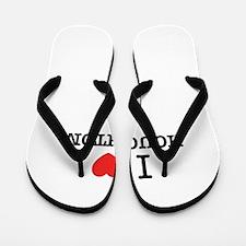 I Love HOUGHTON Flip Flops