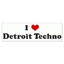 I Love Detroit Techno Bumper Bumper Sticker