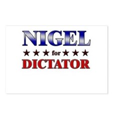 NIGEL for dictator Postcards (Package of 8)