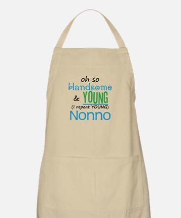 Handsome and Young Nonno BBQ Apron