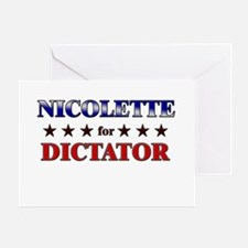 NICOLETTE for dictator Greeting Card