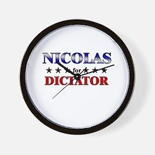 NICOLAS for dictator Wall Clock