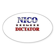 NICO for dictator Oval Decal
