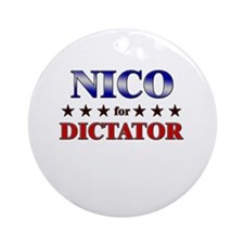 NICO for dictator Ornament (Round)
