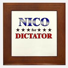 NICO for dictator Framed Tile