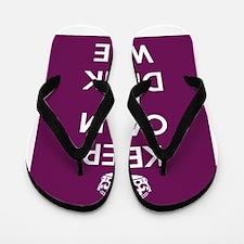 Keep Calm and Drink Wine Flip Flops