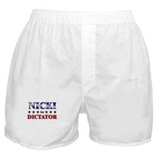 NICKI for dictator Boxer Shorts