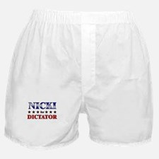 NICKI for dictator Boxer Shorts