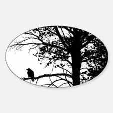 Raven Thoughts Oval Decal