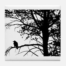 Raven Thoughts Tile Coaster