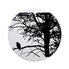 Raven Thoughts Ornament (Round)