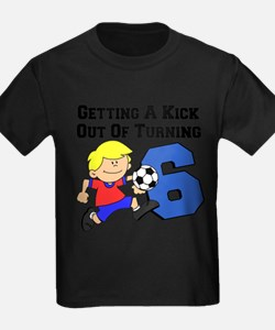 Soccer Boy Turning 6 T-Shirt