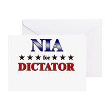 NIA for dictator Greeting Card