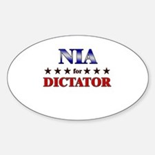 NIA for dictator Oval Decal