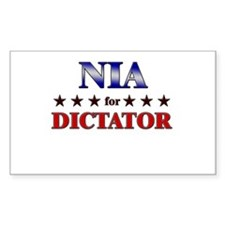 NIA for dictator Rectangle Decal