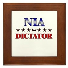 NIA for dictator Framed Tile