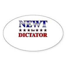 NEWT for dictator Oval Decal