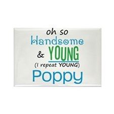 Handsome and Young Poppy Rectangle Magnet