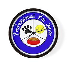 Professional Pet Sitter Crest Wall Clock