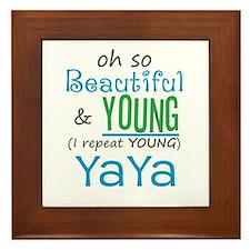 Beautiful and Young YaYa Framed Tile