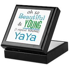 Beautiful and Young YaYa Keepsake Box