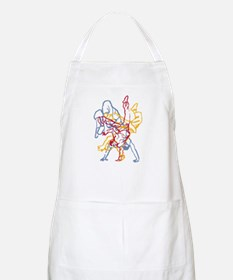 Blue, Red, Yellow Breakdance BBQ Apron