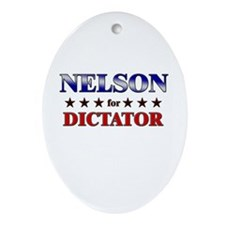 NELSON for dictator Oval Ornament