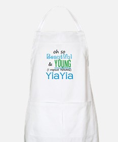 Beautiful and Young YiaYia BBQ Apron