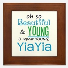 Beautiful and Young YiaYia Framed Tile