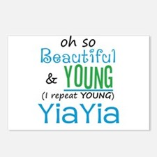 Beautiful and Young YiaYia Postcards (Package of 8