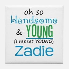 Handsome and Young Zadie Tile Coaster